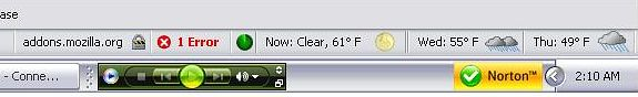 Weather toolbar for Firefox